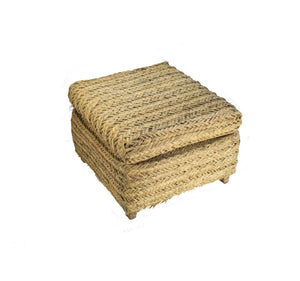 ARKA Living African palm woven ottoman one-of-a-kind