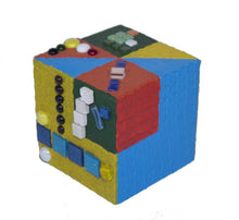 Load image into Gallery viewer, ARKA Living Artistic cube #la83  by lula azorey