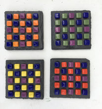 Load image into Gallery viewer, ARKA Living Colorful glass Coaster set(4) by lula Azorey, handmade colorful mosaic glass coaster 2
