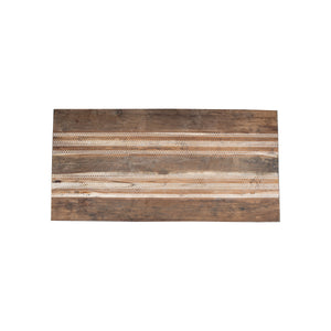 ARKA Living DINING Reclaimed Wood  table with mother of pearl: solid teak wood dining table