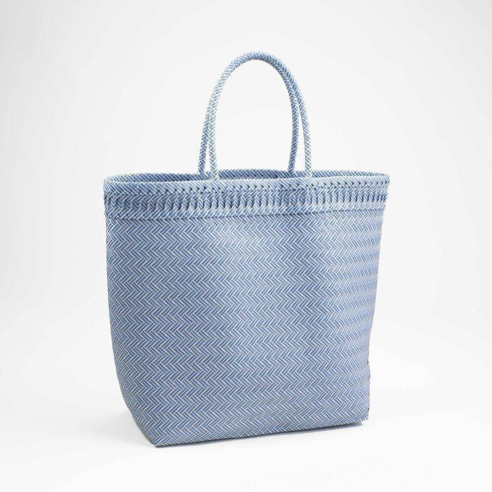 ARKA Living Handcrafted aqua tote/bag