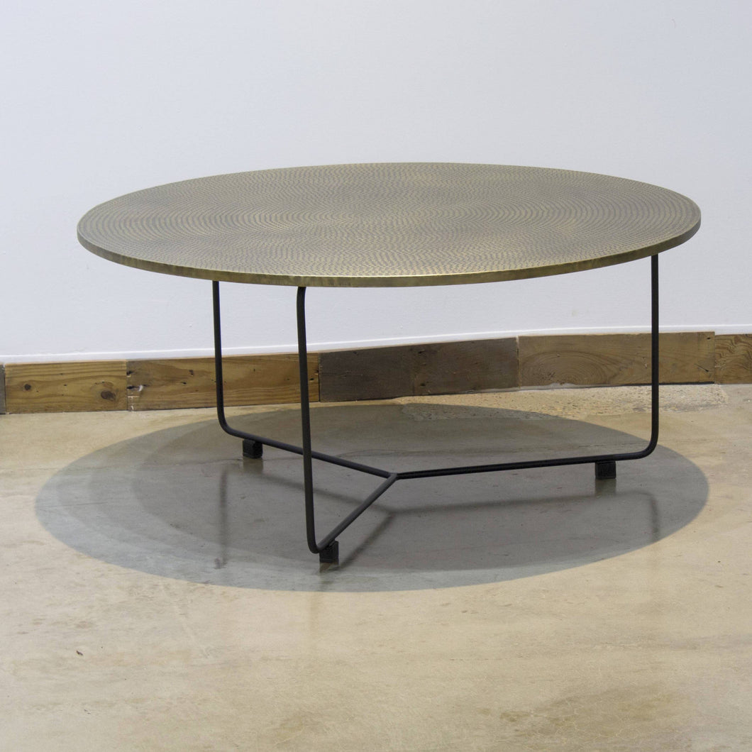 ARKA Living Handcrafted bronze round coffee table
