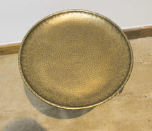 Load image into Gallery viewer, ARKA Living Handcrafted bronze round end table cone base