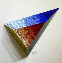 Load image into Gallery viewer, ARKA Living Mosaic 3D art piece, modern colorful glass mosaic geometric wall mount sculpture