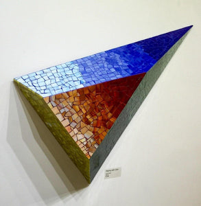ARKA Living Mosaic 3D art piece, modern colorful glass mosaic geometric wall mount sculpture