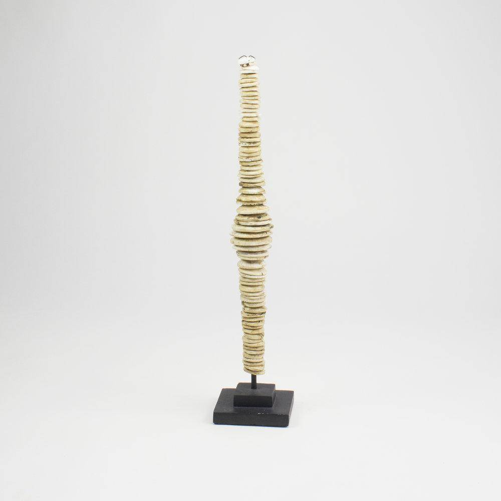ARKA Living Shell disk tower on metal stand