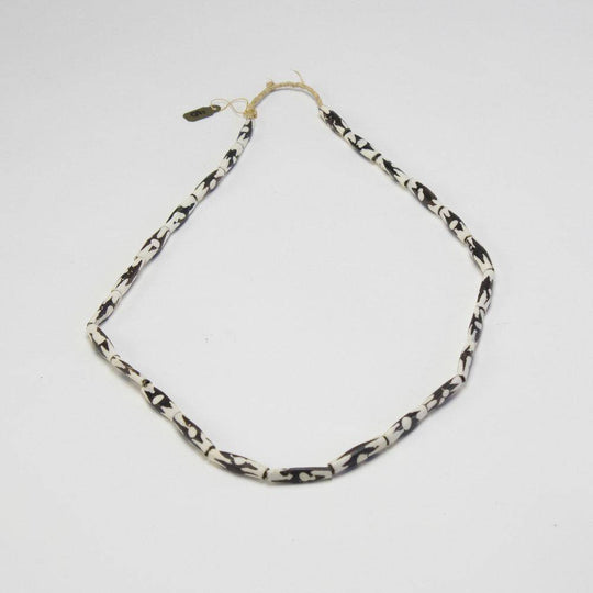 Small Malibu Necklace | Hand Crafted Black and White Shell Beads