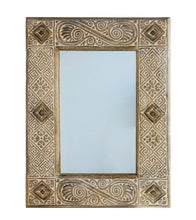 Load image into Gallery viewer, ARKA Living Small wooden carving mirror