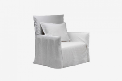 ARKA Living SOFA Airmchair Ghost 4 Sofa White Linen, 2-week lead time