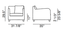 Load image into Gallery viewer, ARKA Living SOFA Airmchair Next 1 Sofa White Linen, 2-week lead time