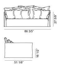 Load image into Gallery viewer, ARKA Living SOFA Ghost  Sofa 16 on White Linen Daybed- 2-WEEK LEAD TIME