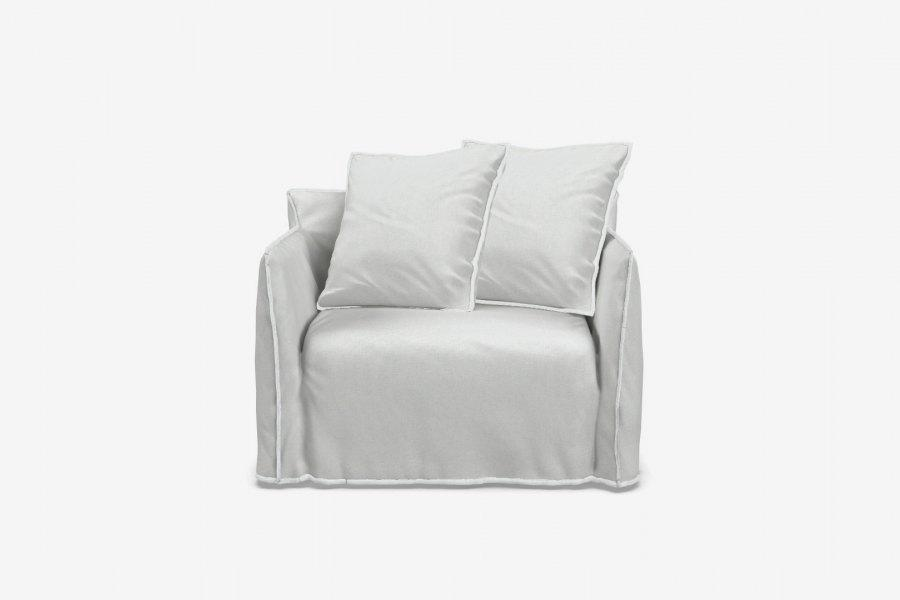 ARKA Living SOFA Love-seat Ghost 9 Sofa White Linen, 2-week lead time
