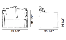 Load image into Gallery viewer, ARKA Living SOFA Love-seat Ghost 9 Sofa White Linen, 2-week lead time