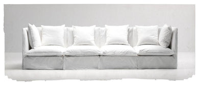 ARKA Living SOFA Transitional Raised Arm Sofa