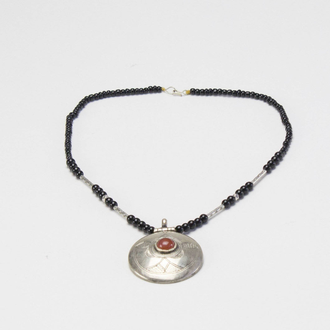 ARKA Living Tribal metal and beads necklace