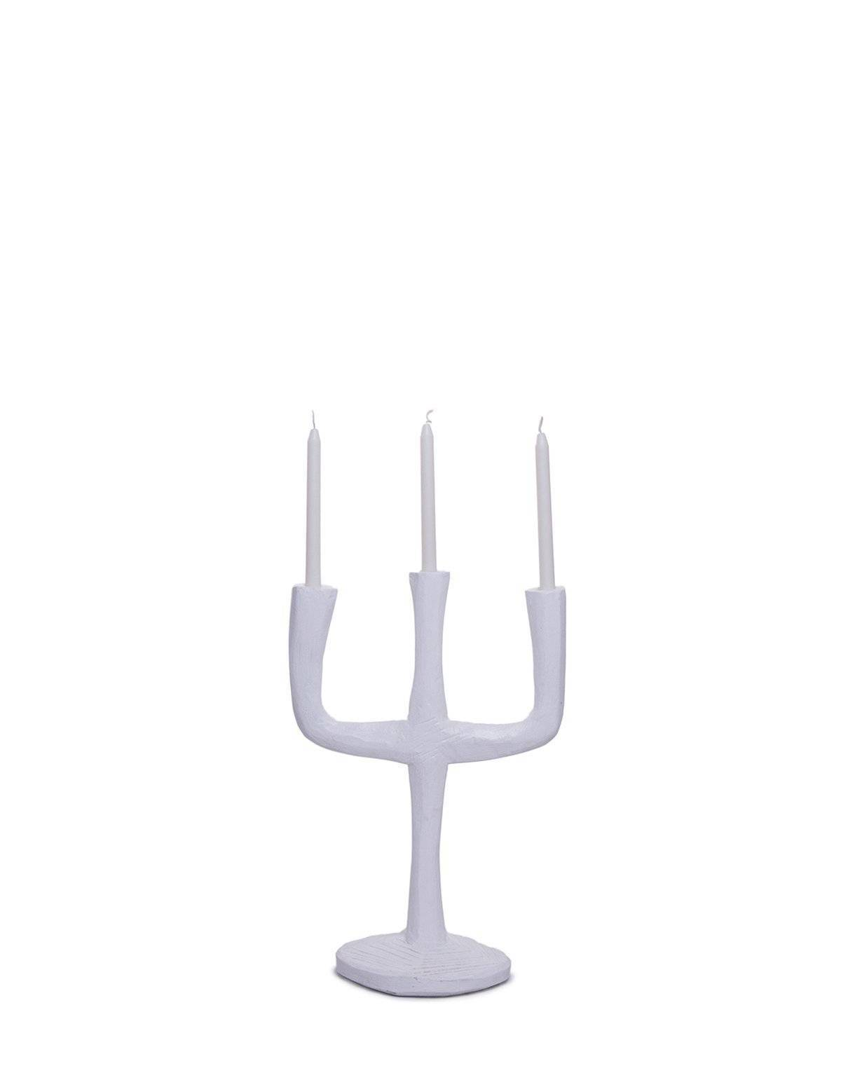 ARKA Living Tridente candle stick white