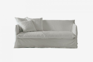 ARKA Living White Linen Ghost 15 Sofa Bed