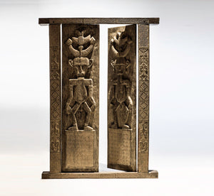 Tribal Wooden Carved Door | Nature Boho Decor
