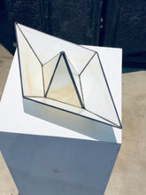 Load image into Gallery viewer, Stained glass 3D paper origami style sailing boat table top decoration Sculpture Tiffany technique