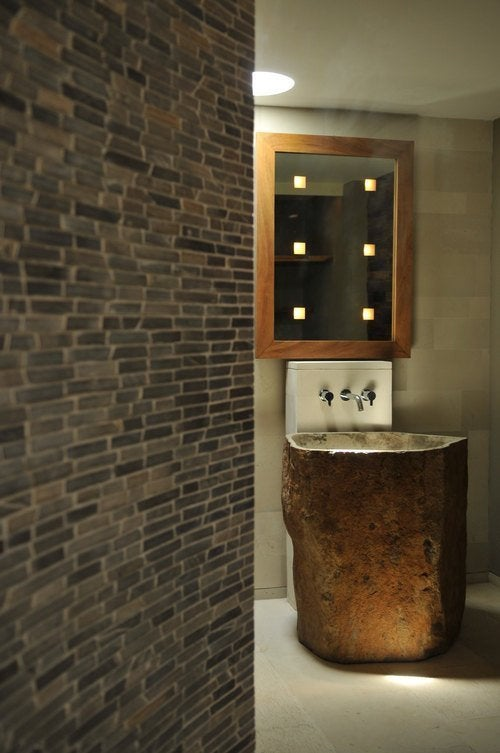 Solid Pedestal Natural Stone sink