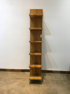 TX Only Solid Teak wood leaning book shelf