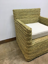 Load image into Gallery viewer, Handwoven African Palm Chair | Wicker Lounge Chair Set (2 Chairs)