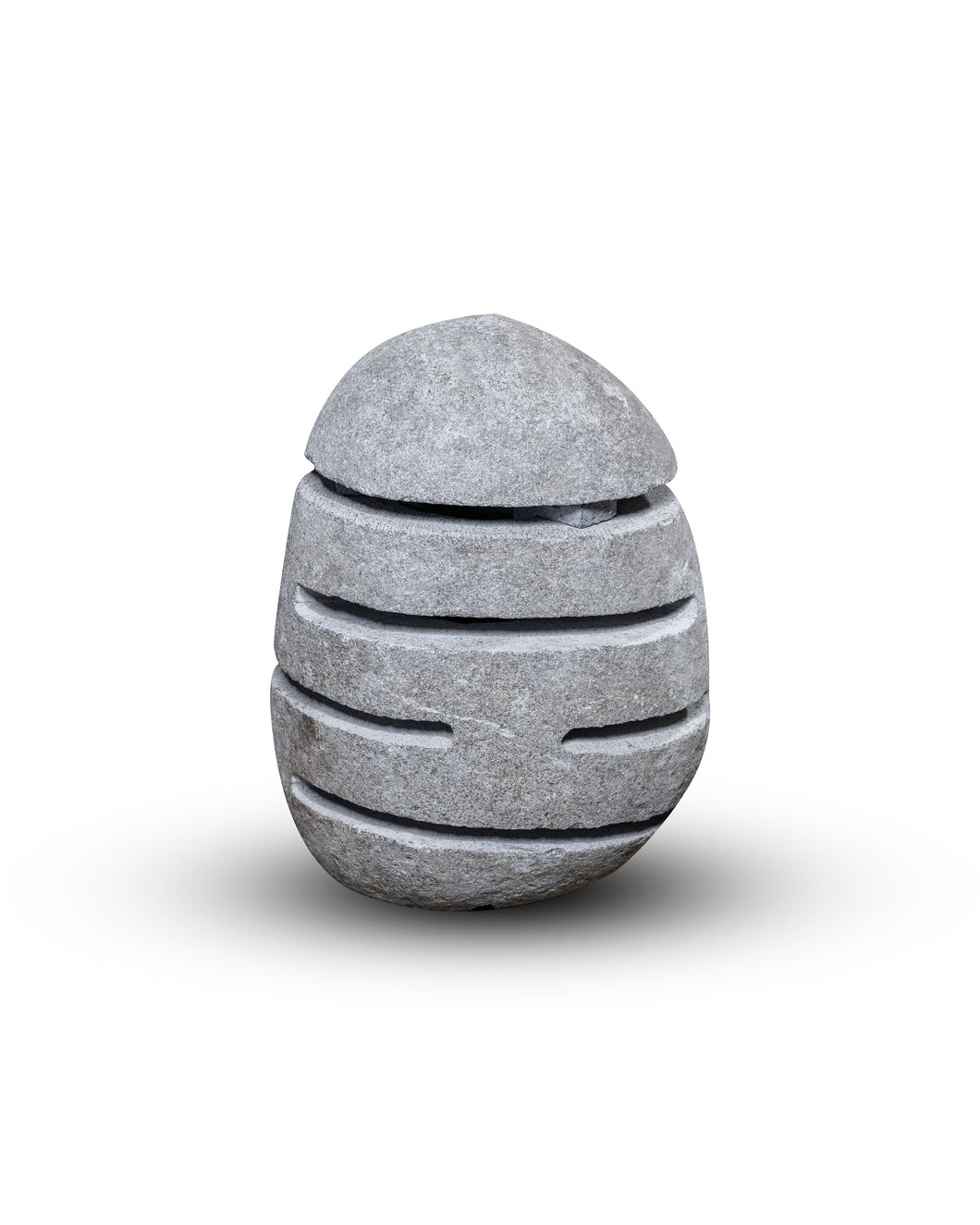 River Stone Egg Lantern , Modern Garden Candle Lighting #2 (COMING IN THE END OF AUGUST)