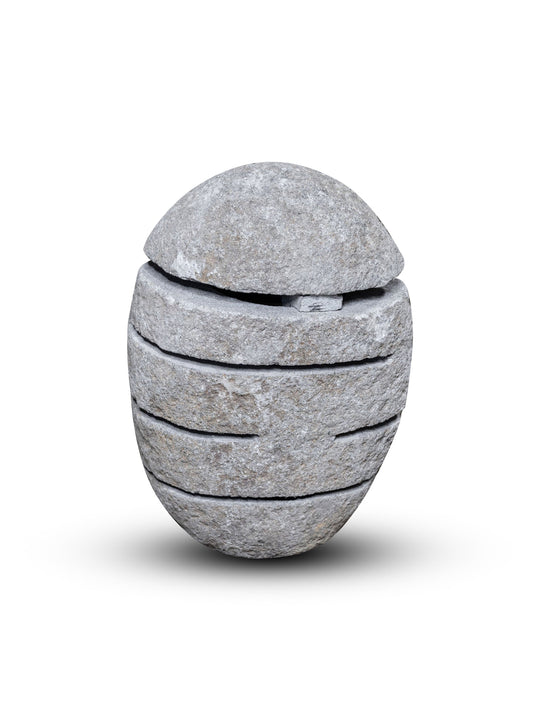 River Stone Egg Lantern , Modern Garden Candle Lighting #3 (COMING IN THE END OF AUGUST)