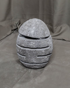 River Stone Egg Lantern , Modern Garden Candle Lighting #6 (COMING IN THE END OF AUGUST)