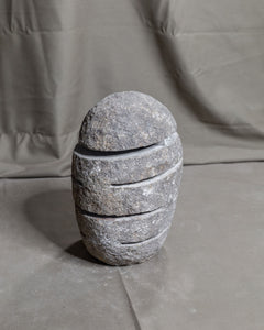 River Stone Egg Lantern , Modern Garden Candle Lighting #9