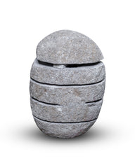Large River Stone Egg Lantern , Modern Garden Candle Lighting #3 (COMING IN THE END OF AUGUST)