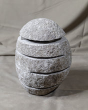 Load image into Gallery viewer, Large River Stone Egg Lantern , Modern Garden Candle Lighting #7 (COMING IN AUGUST)