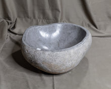 Load image into Gallery viewer, Natural Stone Oval Vessel Sink | River Stone Gray Wash Bowl #49 (COMING IN THE END OF AUGUST)