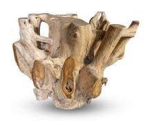 "Load image into Gallery viewer, Teak Wood Root Coffee Table with Glass Top 35.5""x35.5"", Modern Coffee Table #1 (COMING IN THE END OF AUGUST)"