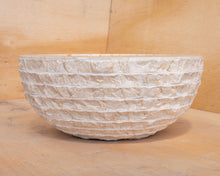 Load image into Gallery viewer, Small Natural Marble Vessel Sink | Hammer Finish Cream Color
