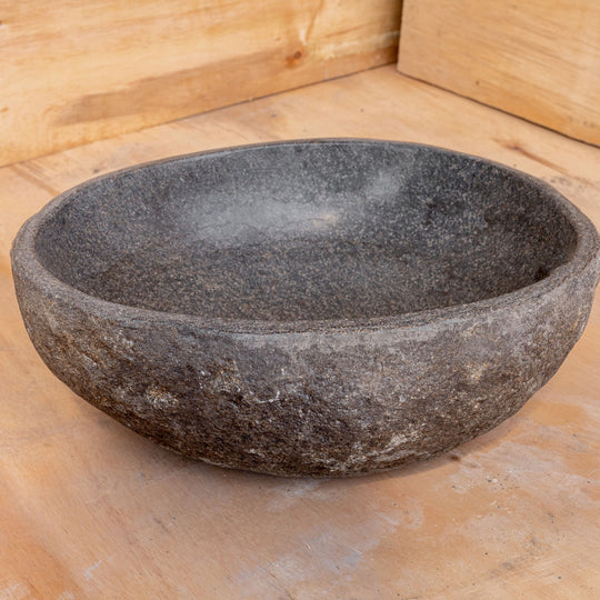 Spa Natural River Stone Bowl | Flower or Bird Bowl #2