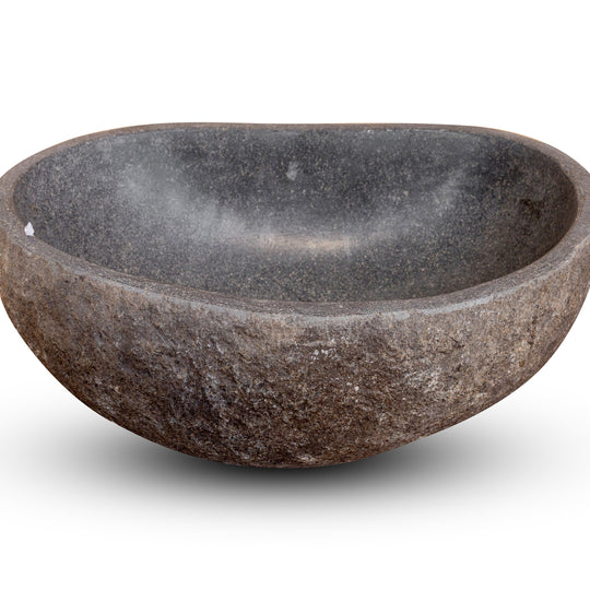 Spa Natural River Stone Bowl | Flower or Bird Bowl #3