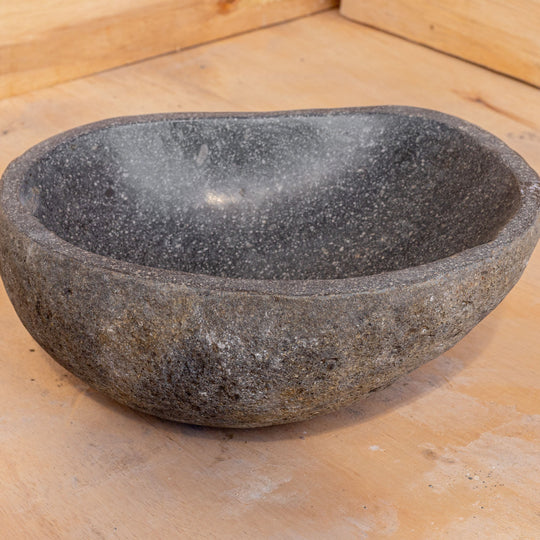 Spa Natural River Stone Bowl | Flower or Bird Bowl #4 (