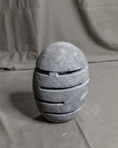 River Stone Egg Lantern , Modern Garden Candle Lighting #1 (COMING IN THE END OF AUGUST)
