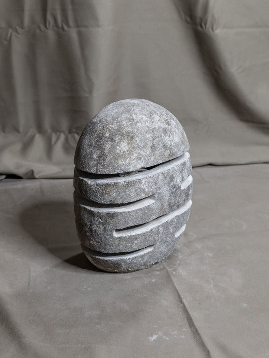 River Stone Egg Lantern , Modern Garden Candle Lighting #7 (COMING IN THE END OF AUGUST)