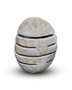 Large River Stone Egg Lantern , Modern Garden Candle Lighting #2 (COMING IN THE END OF AUGUST)