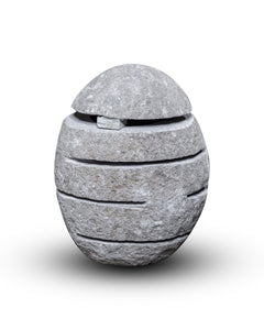 Large River Stone Egg Lantern , Modern Garden Candle Lighting #7 (COMING IN AUGUST)