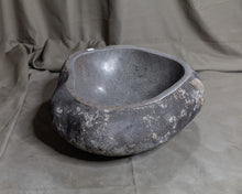Load image into Gallery viewer, Natural Stone Oval Vessel Sink | River Stone Gray + Darker Exterior Wash Bowl #24 (COMING IN AUGUST)