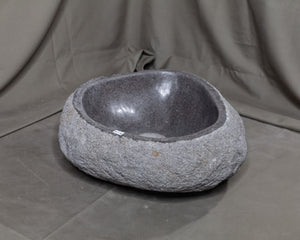Natural Stone Oval Vessel Sink | River Stone Gray Wash Bowl #54 (COMING IN THE END OF AUGUST)