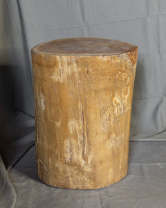 "Solid Teak Wood Side Table, Natural Tree Stump Stool or End Table #16    18"" H x 13.5"" W x 13.5"" D"
