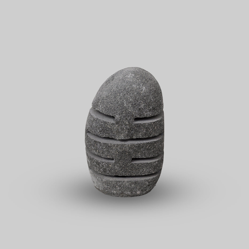 River Stone Egg Lantern , Modern Garden Candle Lighting #R3 (COMING IN THE END OF AUGUST)