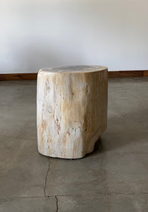 Light Beige and Black Petrified  solid wood stool block , fossil wood side end table or coffee table 9