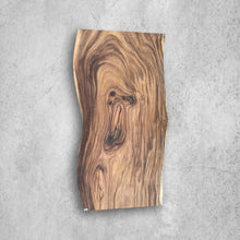 "Load image into Gallery viewer, Large Live Edge Table, 75"" Wood Slab, Metal or Wood Base"