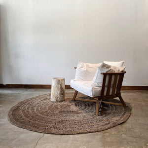 Round Handwoven Pandan Rug, Natural material for natural looks