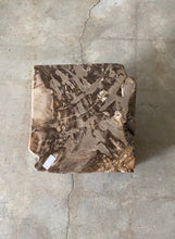 Load image into Gallery viewer, Brown Petrified wood stool block , fossil wood end table or coffee table 5